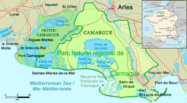 Location vacances Sausset - Carte Camargue