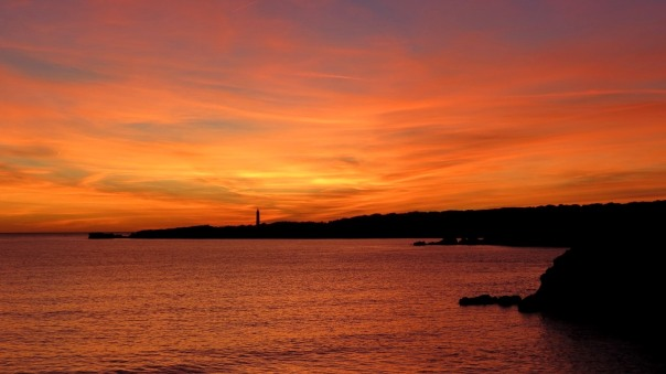 Coucher de soleil plage de la Sainte-Croix à Sausset-les-Pins